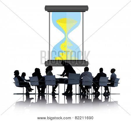 Time Sand Glass Hour Glass Finance Saving Concept