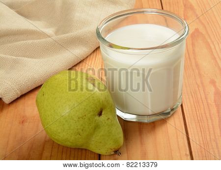 Pear And Glass Of Milk