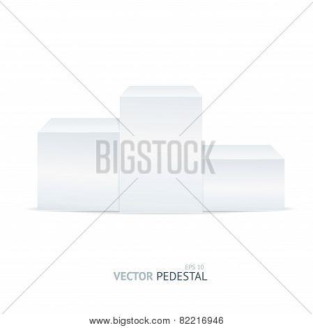 Vector empty white pedestal