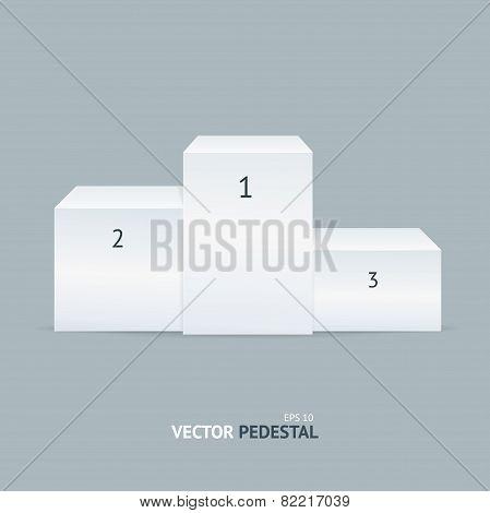 Vector white pedestal