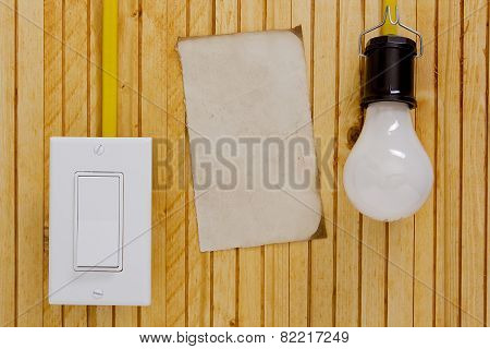 Light Bulb Switch Wall