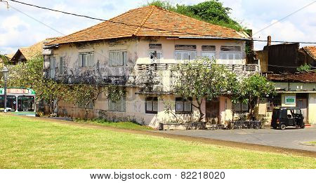 Two-story historic building in Galle Fort