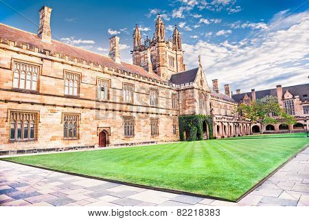SYDNEY, AUSTRALIA-DEC 23, 2014:Quadrant Building at University of Sydney, Australia on Dec 23, 2014. Five Nobel or Crafoord laureates have been affiliated with the university as graduates and faculty.