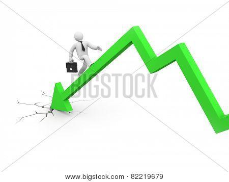 The businessman overcome financial crisis