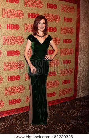 LOS ANGELES - JAN 12:  Carrie Preston at the HBO 2014 Golden Globe Party  at Beverly Hilton Hotel on January 12, 2014 in Beverly Hills, CA