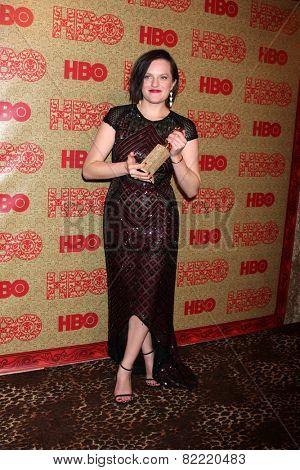 LOS ANGELES - JAN 12:  Elisabeth Moss at the HBO 2014 Golden Globe Party  at Beverly Hilton Hotel on January 12, 2014 in Beverly Hills, CA
