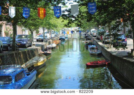Canal in Enkhuizen