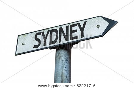 Sydney sign isolated on white background