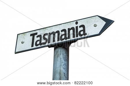 Tasmania sign isolated on white background