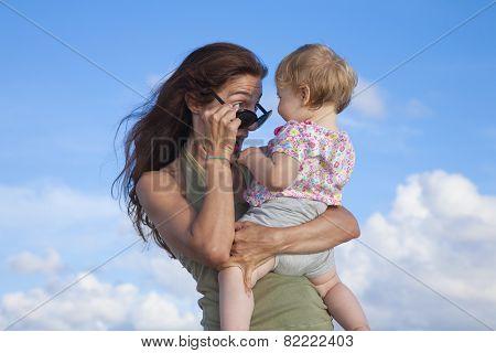 Mom Looking At Baby