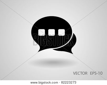 Flat  icon of a communication