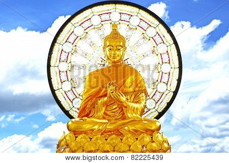 Sitting Big Buddha-stock Image
