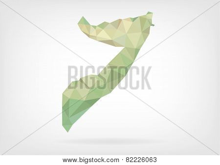 Low Poly map of Somalia