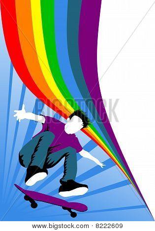 Skateboard Rainbow