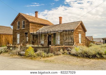 Ghost Western Town In Bodie, California
