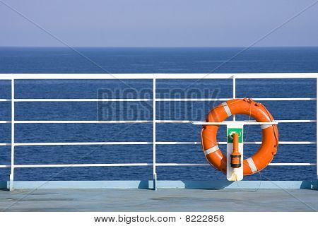 Lifebuoy On Ship