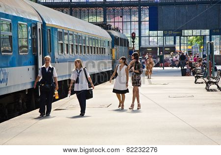 Weststation, Budapest,  People Are Waiting