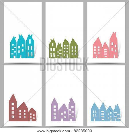 Houses On White Cards