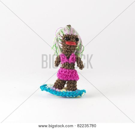 Knitted Surfer
