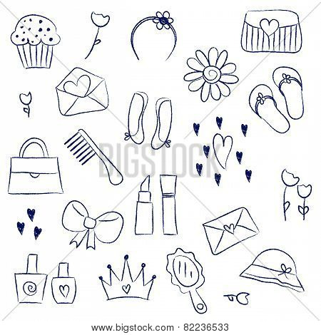 Girl Accessories Chalky Doodles
