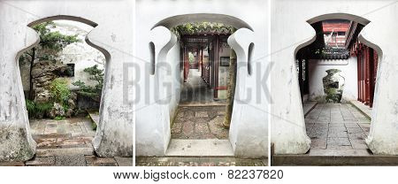 Unusual doorways in China