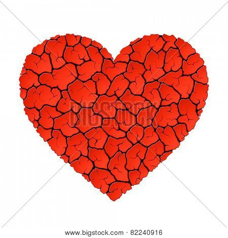 Heart without love concept. Vector.