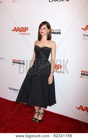 LOS ANGELES - FEB 2:  Felicity Jones at the AARP 14th Annual Movies For Grownups Awards Gala at a Beverly Wilshire Hotel on February 2, 2015 in Beverly Hills, CA