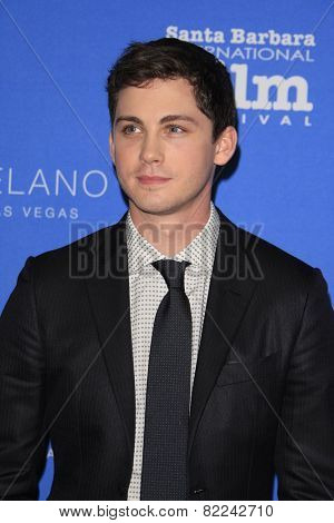 SANTA BARBARA - FEB 1:  Logan Lerman at the Santa Barbara International Film Festival - Virtuosos Award at a Arlington Theater on February 1, 2015 in Santa Barbara, CA