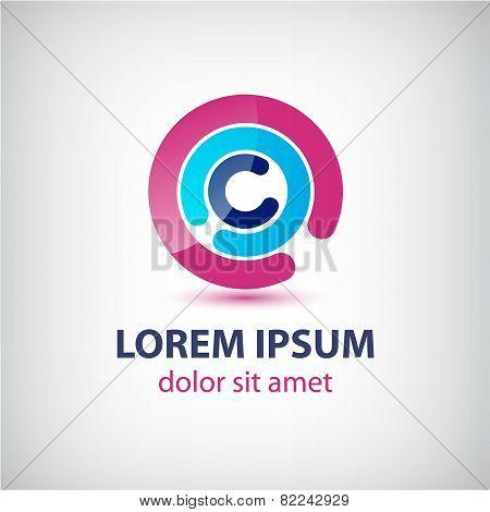 vector abstract circle loop