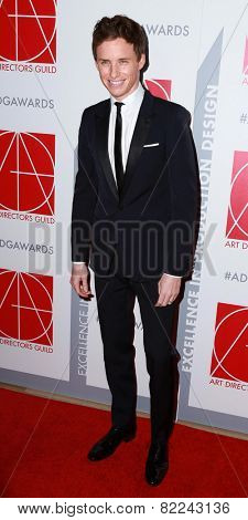 LOS ANGELES - JAN 31:  Eddie Redmayne at the 19th Annual Art Directors Guild Excellence in Production Design Awards at a Beverly Hilton Hotel on January 31, 2015 in Beverly Hills, CA