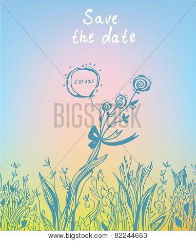Save the date - wedding graphic invitation
