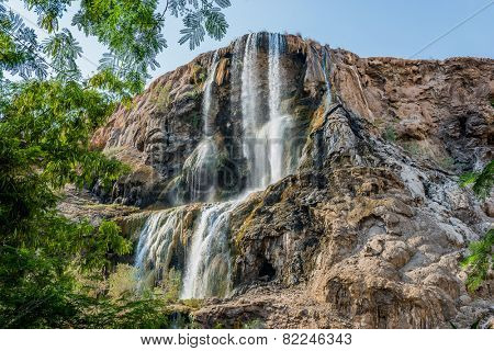 ma'in hot springs waterfall in Jordan
