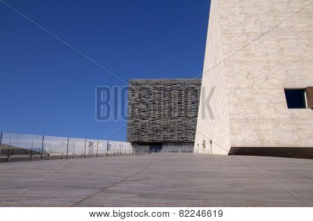 Modern Opera Theater, Florence, Italy - Detail with Blue sky