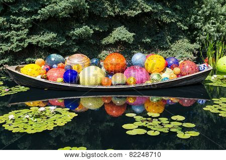 Glass Balls In Canoe