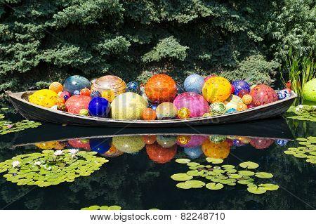 Glass Balls In Canoe