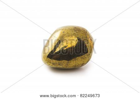 Pyrite Stone On White Background
