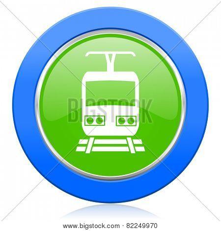 train icon public transport sign