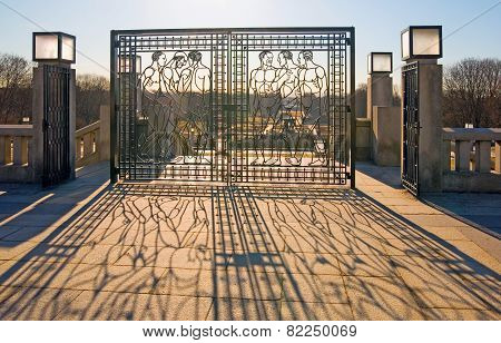 Oslo. Norway. The Vigeland Park. Iron gate