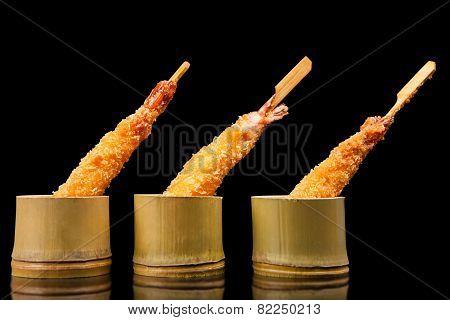 Shrimp Tempura With Chopsticks