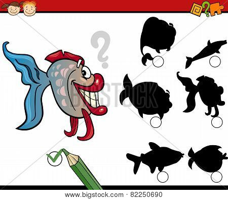 Education Shadows Game Cartoon