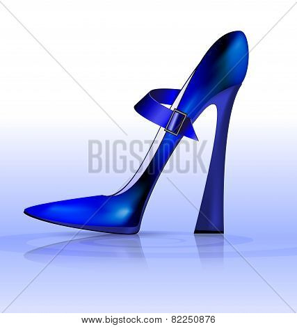 blue funny shoe