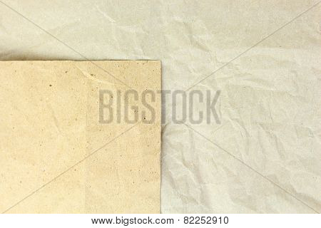 Old Recycled Blank Crumpled Papers Background