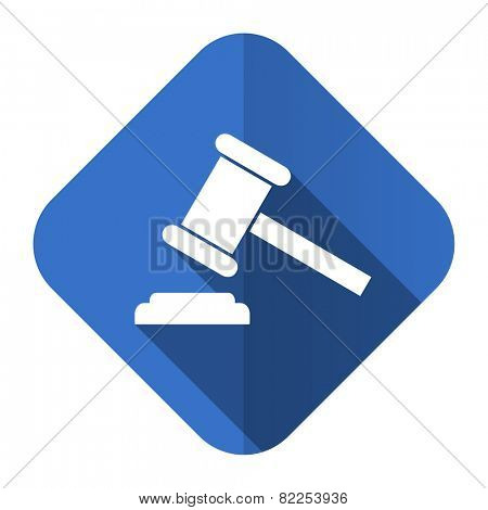 auction flat icon court sign verdict symbol