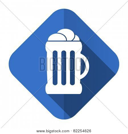 beer flat icon mug sign