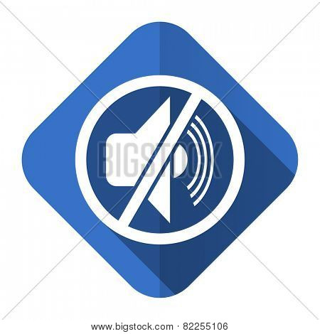 mute flat icon silence sign