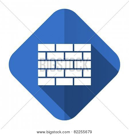 firewall flat icon brick wall sign