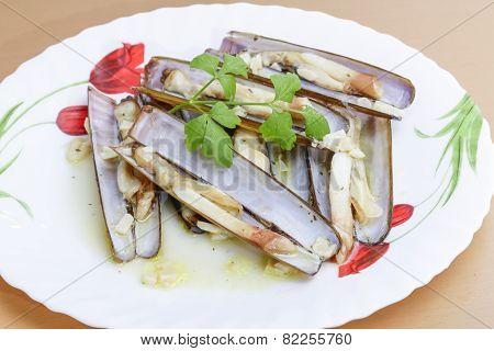 Razor shellfish