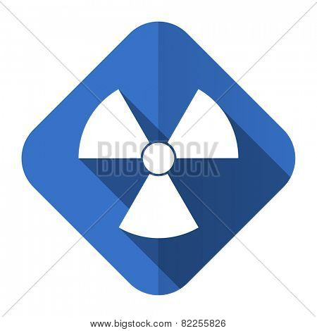 radiation flat icon atom sign