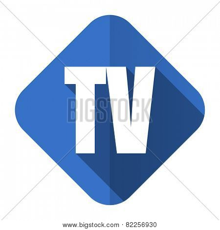 tv flat icon television sign