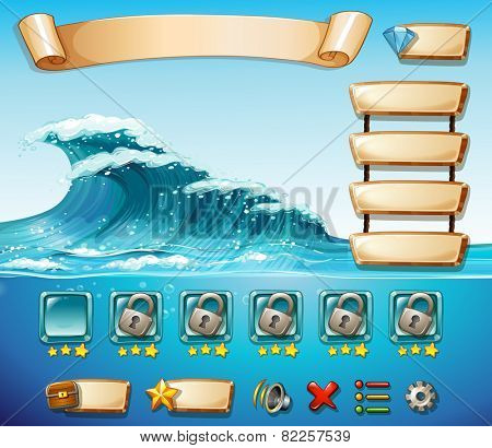 Illustration of a computer game template